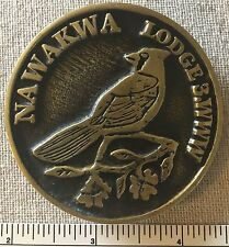 Nice NAWAKWA LODGE 3 Order of the Arrow BELT BUCKLE Boy Scout WWW OA HEAVY BRASS