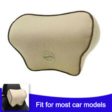 Memory Cotton Foam Car Seat Headrest Pad Head Neck Cushion Pillow Soft Brown Fits Mitsubishi Diamante