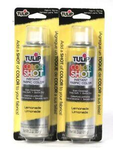 2 Count Tulip 30 Oz Color Shot Lemonade Instant Fabric Color Quick Dry Spay
