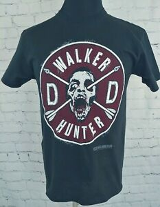 The Walking Dead Walker Hunter Daryl Dixon Faux Patch And Wings T-Shirt MEDIUM