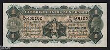 Australia R-27b. (1932) 1 Pound.. Riddle/Sheehan.. George V Portrait..  VF