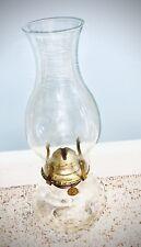 LAMPLIGHT FARMS Clear Glass Hobnail Oil lamp w Tall Clear Glass Chimney
