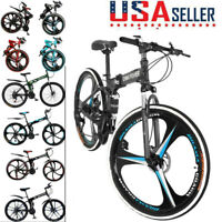 26in Folding/Full Suspension Mountain Bicycle Road MTB Bike Shimano 21 Speed New