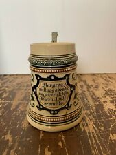 Antique 1/2 Liter German Stein At morning, noon, evening, night drink your beer