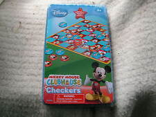 DISNEY MICKEY MOUSE CLUBHOUSE CHECKERS GAME FOR AGES 3+ Item #3174