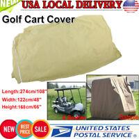 Durable Waterproof 4 Passenger Golf Cart Cover Storage For EZ Go/Club Car/Yamaha