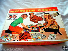 Vintage 1969 Hasbro Treasure Chest Of Games Over 60 Games/Board Games