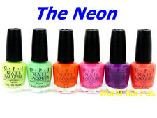 OPI Nail Polish Lacquer NEON Collection Bright Shades Summer Set of 6 Colors