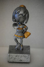 Cheerleader Bobblehead Figure Trophy Award Gift - Free Engraving and Shipping