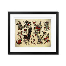 Sailor Jerry Classic Old School Vintage Tattoo Flash Poster Print 0332