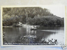 RPPC KY. CAR FERRY XING CUMBERLAND RIVER FALLS STATE PARK! REAL PHOTO POSTCARD
