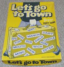 Lets Go To Town - Vintage 1930's Pepys Party Game - Complete