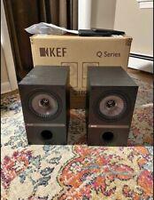 KEF Q100 Black Bookshelf Speakers, Excnt Cond., Scratch/Ding-less,