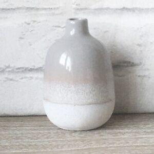 Grey Stone Effect Mojave Glaze Vases Flower Vase Holder Home Decoration Decor