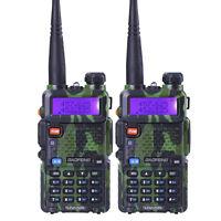 2PCS Baofeng UV-5R Walkie Talkie Set  2 Way Radio VHF UHF Dual Band Transmitter