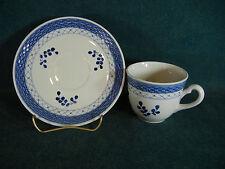 Royal Copenhagen Pattern #11 Tranquebar Blue Shape 956 Tall Cup & Saucer Set(s)
