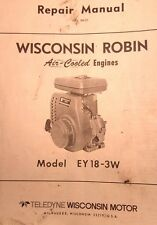 Wisconsin Robin EY18-3W Engine Service Repair Manual Tractor Welder Generator