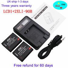 2X LI-90B LI 90B LI-92B Battery+Charger for Olympus Tough TG-1 iHS TG-2 iHS TG-3