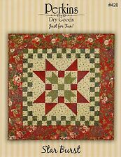 """STAR BURST Quilted Table Topper Pattern by Perkins Dry Goods ~ 33"""" x 33"""""""