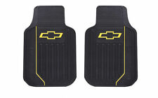 2 PC Chevy Elite Yellow Bowtie Logo Car Truck SUV Front Floor Mats