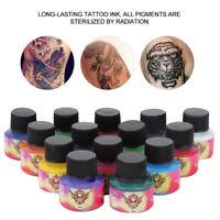 1Set 70ml Professional Tattoo Ink 14 Colors Set Tattoo Pigment Kit Practice Ink