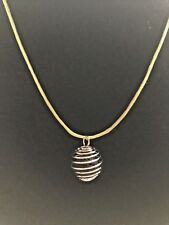 """Essential Oil Aromatherapy Therapy Diffuser Cage Necklace. 18"""" Lt Green Cord New"""