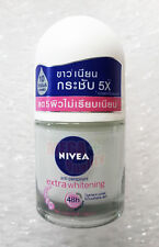 NIVEA Extra Whitening 48Hr. Deodorant Roll On For Plucking Tightens Pores 12ml