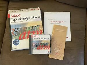 Adobe Type Manager Deluxe 4.6  Retail Full Version for Apple Macintosh Free Ship