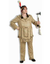 Plus Size Male Native American Chief Indian Halloween Costume