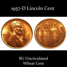 1957-D BU Uncirculated Lincoln Cent ~ $2.75 MAXIMUM Shipping for ENTIRE ORDER!