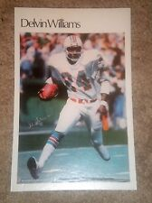"""Delvin Williams  (Mini Poster) # 50 of 50 NFL 1980 5.5"""" x 8.5""""  Thick Card Stock"""