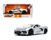 JADA 1:24 2020 SILVER CHEVROLET CORVETTE STINGRAY C8 DIECAST CAR MODEL 32539