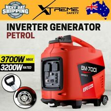 New Portable 3,700W Petrol Inverter Generator 3.7kVA Max 3.2kVA Rated Camping