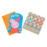 PEPPA PIG INVITATIONS PACK OF 8 PARTY INVITES