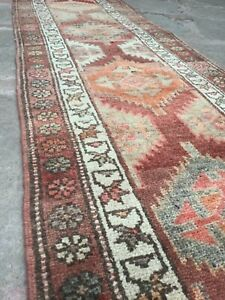 Extra Long Runner Rug, Vintage Runner Rug, Turkish Runner Rug, Tribal Runner Rug