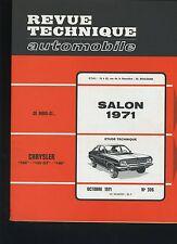 (30B) REVUE TECHNIQUE AUTOMOBILE SALON 1971/ CHRYSLER 160 180 / FORD 12M à 26M
