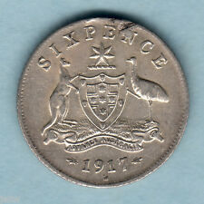 Australia.  1917 Sixpence..  Much Lustre..  aEF