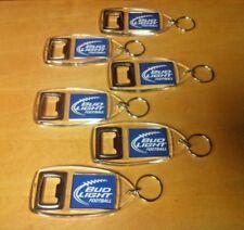 Bud Light Iconic Football Key Ring Bottle Opener - Set of SIX (6) - NEW & F/Ship