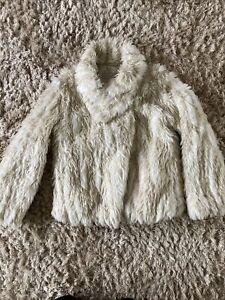 Next Signature Girla Faux Fur Jacket Coat Age 9-10 Years