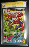 Amazing Spider-Man Annual 12 Marvel Comic CGC SS 9.8 White Pages Signed Stan Lee