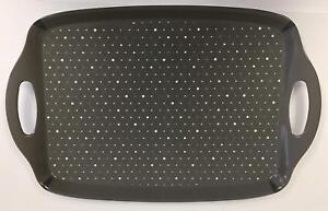 Large Grey & White Geometric Print Serving Tray