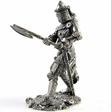 Germany. Knight 14Cen Tin toy soldiers. 54mm miniature figurine. metal sculpture