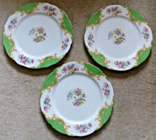 Vintage Paragon Rockingham Pattern Desert Plates Three , 3 , 212mm dia. early BS