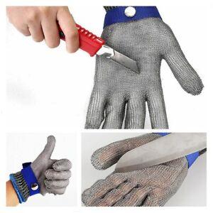 1x Stechschutzhandschuhe Kettenhandschuh Edelstahl Sicherheits-Handschuh Metzger