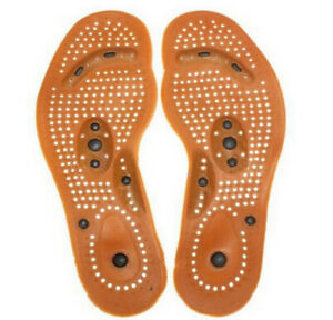 Health Foot Feet Care Magnetic Therapy Massage Insole Shoe Thenar Pad
