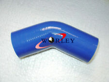 """2.75"""" inch Silicone Hose 45 degree Bend Elbow Silicone Intake Tube pipe 70mm BLU"""