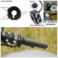2X 22mm Motor CNC Switch Motorcycle Handlebar Button Latch Momentary Cafe Racer