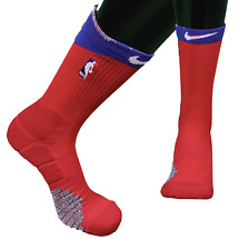 New Nike 2XL NBA Authentics Team Issue Detroit Pistons Basketball Crew Socks Red
