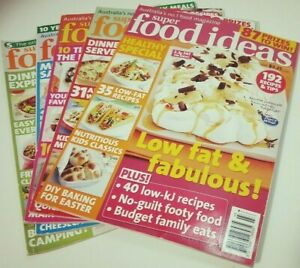 5 x SUPER FOOD IDEAS MAGAZINES - 2008