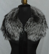 Real Silver Fox with Ribbon Fur Collar  made in the USA New  Detachable